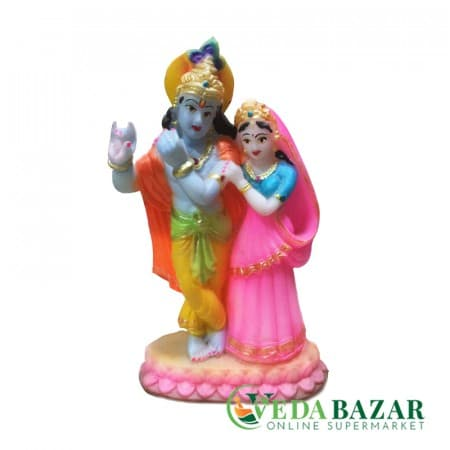 copy of Сувенир Статуэтка Радха и Кришна (souvenir figurine of Radha and Krishna), 15 см фото