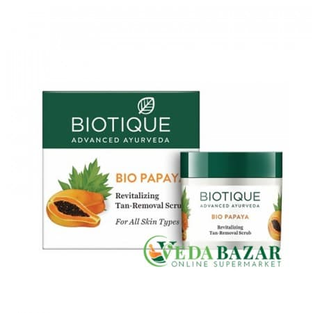 Био папайя, очищающий скраб  (Bio Papaya Tan Removal Scrub), 75 гр, Биотик (Biotique) фото