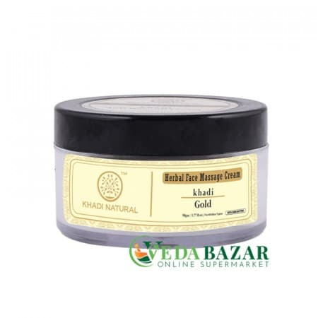 Массажный крем Голд (Face Gold Massage Cream), 50 гр, Кхади Нейчерал (Khadi Natural) фото