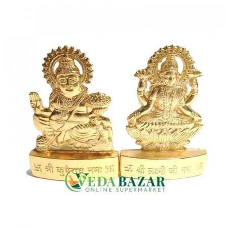 Сувенир статуэтка Лакшми и Кувер (Souvenir figurine Lakshmi and Kuver) 6,5 см фото