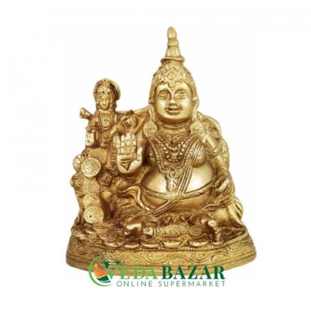 Сувенир статуэтка Лакшми и Кувер (Souvenir figurine Lakshmi and Kuver) 10 см, металл фото